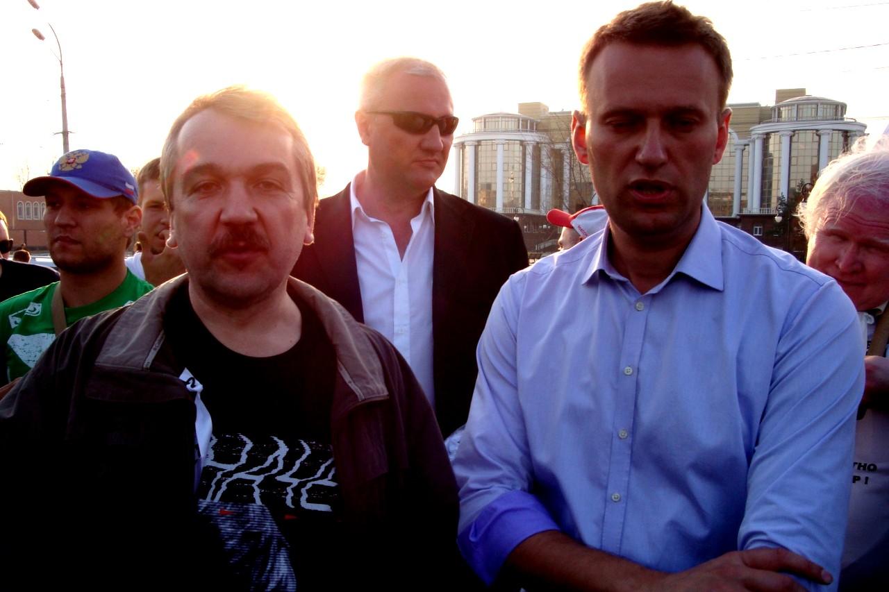 Юрий Черкасов с Алексеем Навальным в 2012 году