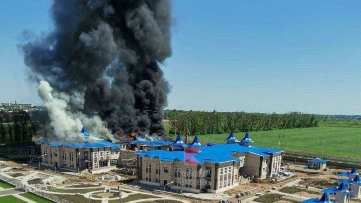 В Кореновске горит новый детский сад, его должны сдать в августе