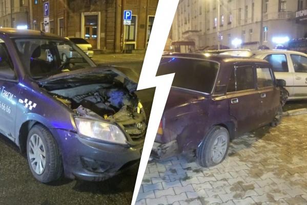 В центре Екатеринбурга произошло ДТП