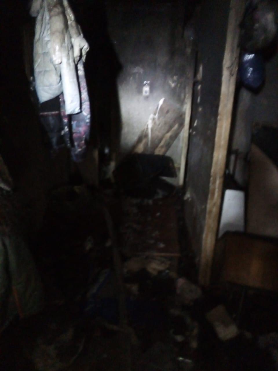 Квартира выгорела и закоптилась