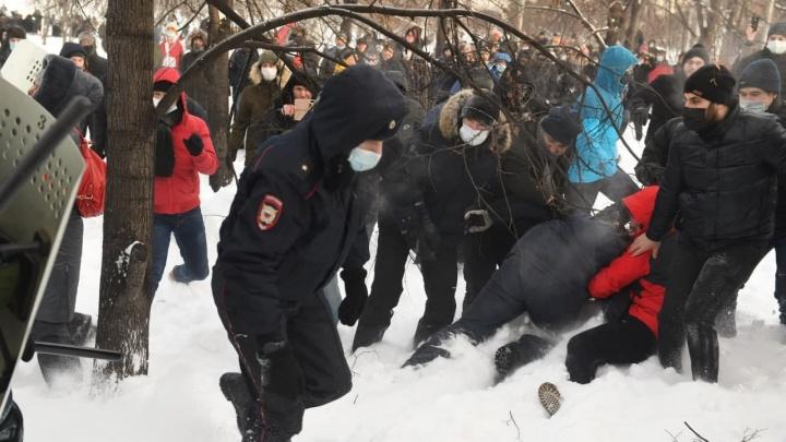 На акции протеста в Екатеринбурге задержали 14 человек