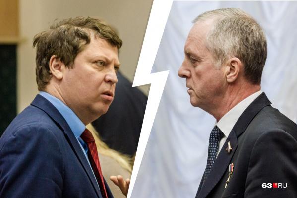 Борьба между кандидатами была очень пылкой — особенно со стороны Михаила Матвеева (слева)