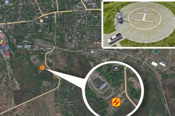 Вертолетная площадка в Переславле должна разместиться между улицей Красного Текстильщика и Грачковской слободой