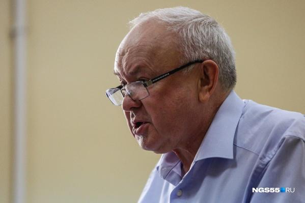 Олег Шишов выступал перед участниками заседания на протяжении часа