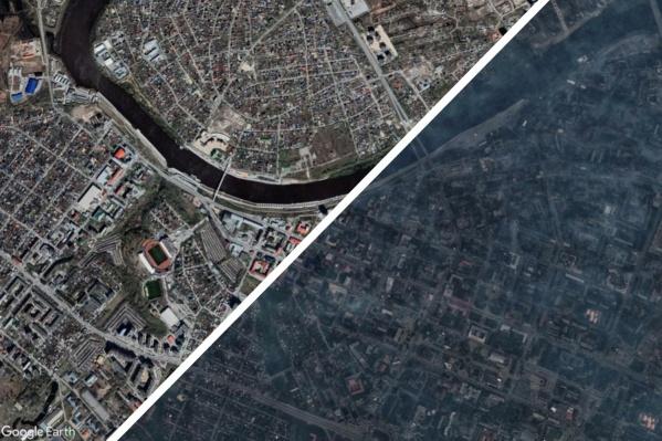 Посмотрим снимки Тюмени из космоса в мае 2021 года