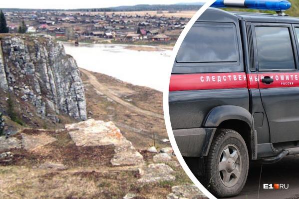 Камень Богатырь на берегу реки Чусовая, под которым нашли тело, высотой с 5-этажный дом