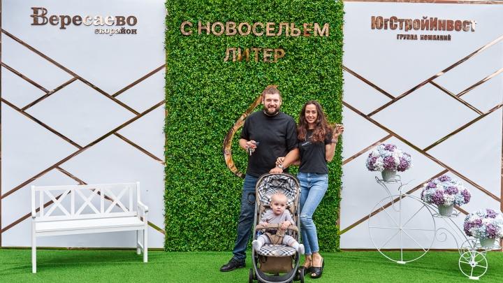 В экорайоне «Вересаево» сдали два дома и открыли центральную аллею