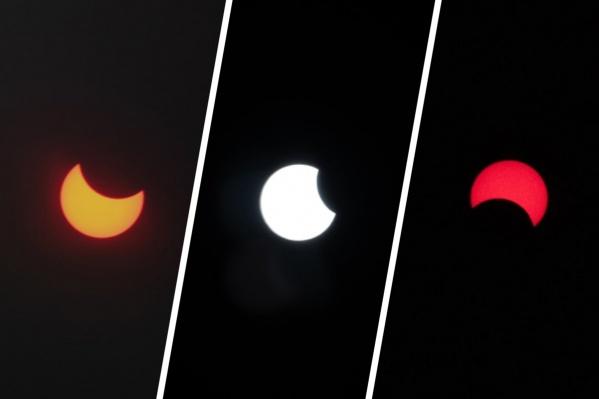 Вот такие кадры сделал Илья Тильманн. Снять затмение красиво не так просто, даже если есть профессиональная оптика