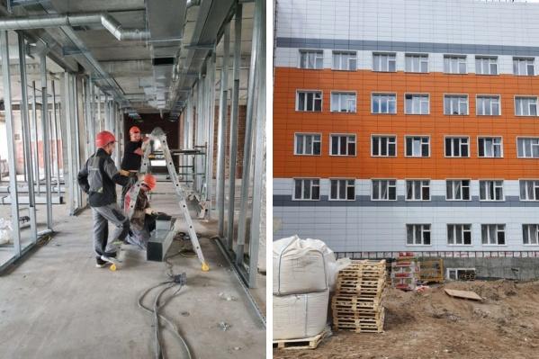 Ведутся внутренние работы и работы по благоустройству, а само здание уже возведено