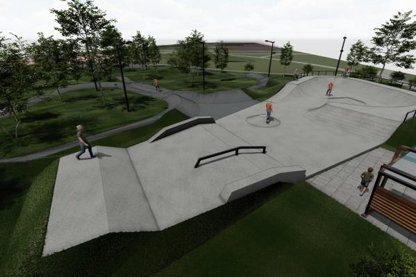 Эскиз будущего скейт-парка