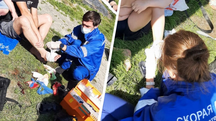 В Екатеринбурге мужчина и семилетний ребенок пострадали на озере Чемоданчик