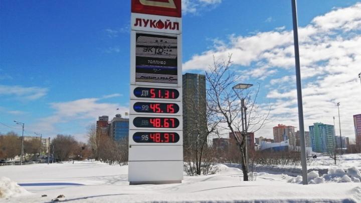 После жалобы УФАС «Лукойл» снизил цены на бензин на пермских АЗС