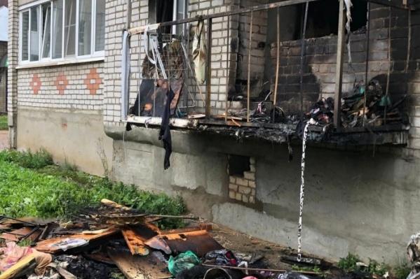 Квартира, где произошел пожар, полностью выгорела