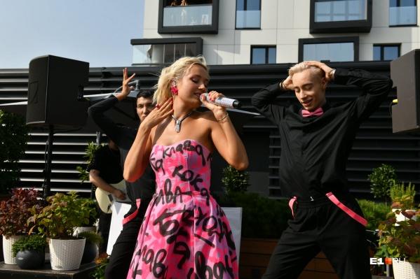Клава Кока выступила на сцене E1.RU в день рождения Екатеринбурга
