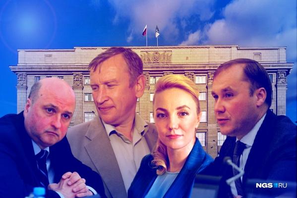 Среди лидеров по имуществу и доходам оказались (слева направо) Игорь Кудин, Алексей Джулай, Екатерина Митряшина иКирилл Покровский