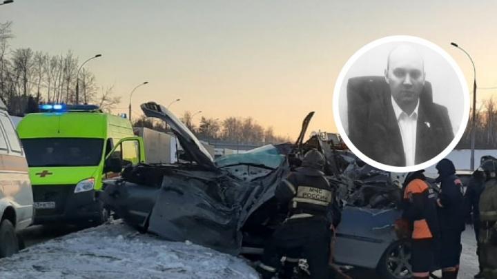 Случайно зацепило: появилось видео ДТП на Бугринском мосту, где погиб начальник цеха Чкаловского завода