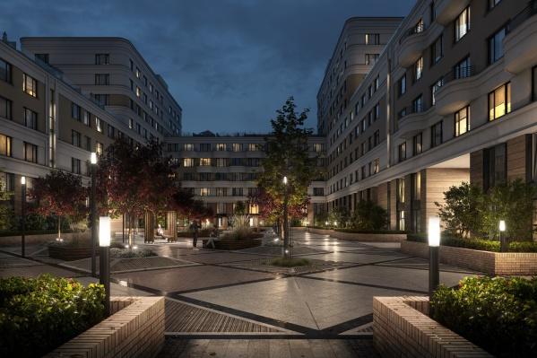 В компании рассказали, что соблюли общую концепцию элитного поселка — с низкой плотностью застройки, отсутствием наземных парковок и зелеными благоустроенными дворами