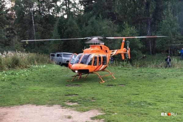Пострадавшего госпитализировали на медицинском вертолете