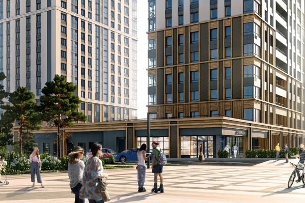 Во внешнем облике жилого квартала гармонично сочетаются классический стиль и <nobr>Hi-Tech</nobr>