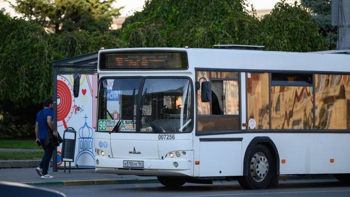 В Ростове загорелся очередной автобус