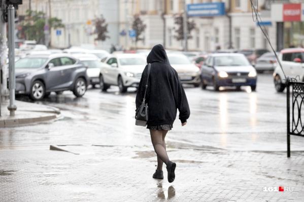 В пятницу в Ростове весь день будет идти сильный дождь