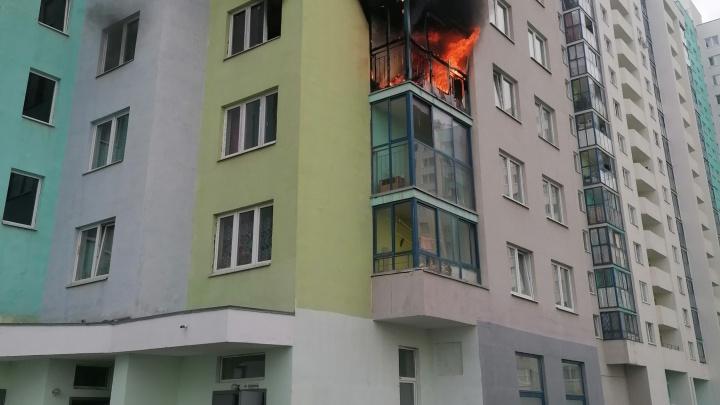 Пламя вырывалось на улицу: в Академическом загорелась квартира