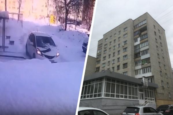 По информации от председателя ТСЖ, в машине находилась девушка, которая пострадала