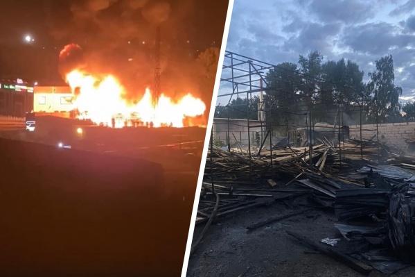 Общая площадь пожара составила 600 кв. м