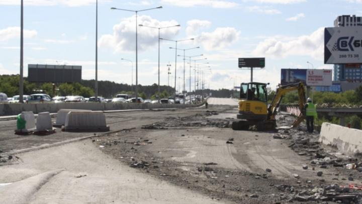 В Екатеринбурге мост, из-за которого город встает в пробку, будут ремонтировать круглосуточно