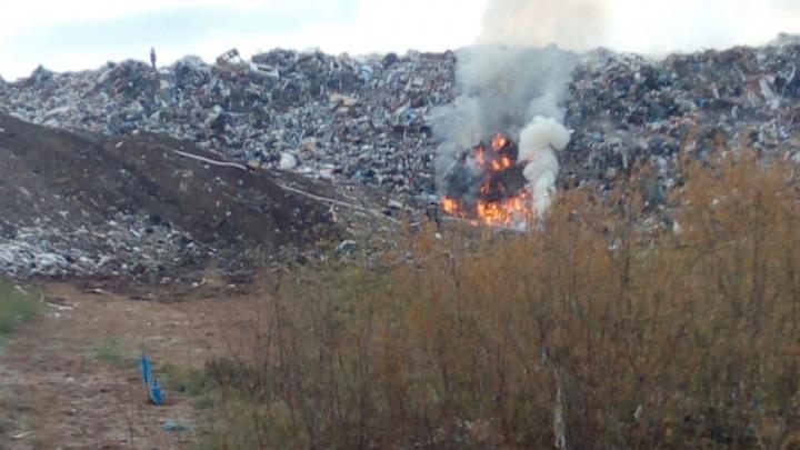 Тренировки или снова пожар? В Башкирии вновь сообщили о возгорании на мусорном полигоне