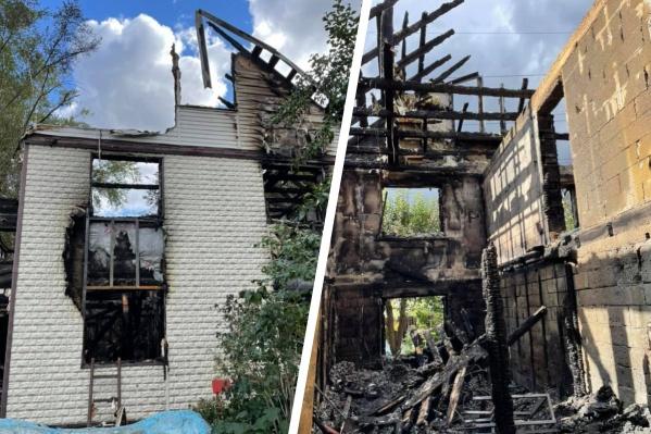 Пожар начался с бани, а потом перекинулся на дом
