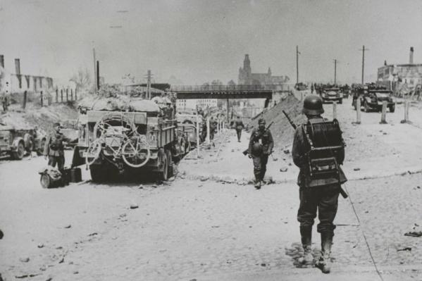 Первые дни войны. Немецкие войска входят в Гродно