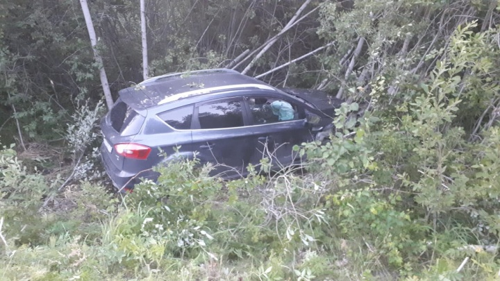 На Урале водитель посадил шестерых детей в машину и в пути протаранил дерево