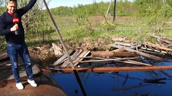 Еще один разлив: под Ачинском обнаружили «мазутное озеро»