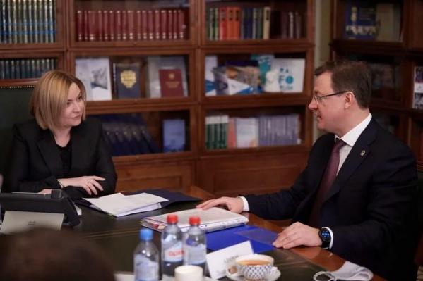 Встреча министра и губернатора состоялась в Москве