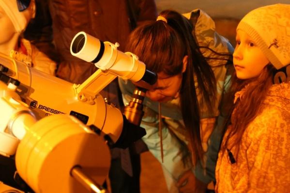 В полдень можно будет понаблюдать из телескопа за Солнцем