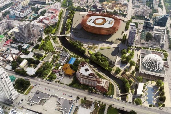 Проект набережной разрабатывают cтроители УГМК-арены