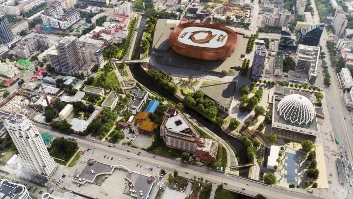 Мэрия Екатеринбурга готовится к благоустройству набережной за ледовой ареной УГМК