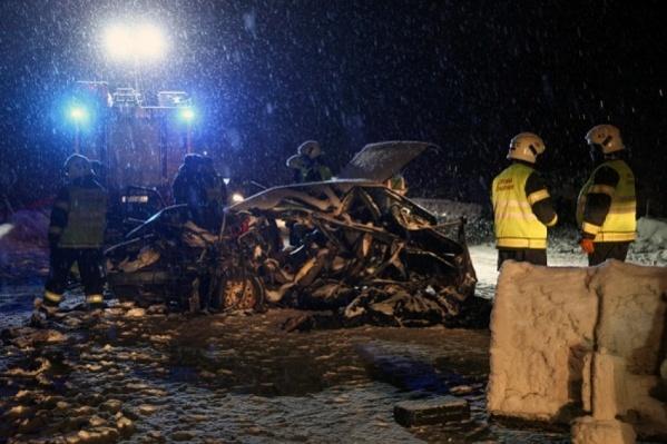 Так выглядел после аварии ВАЗ-21093