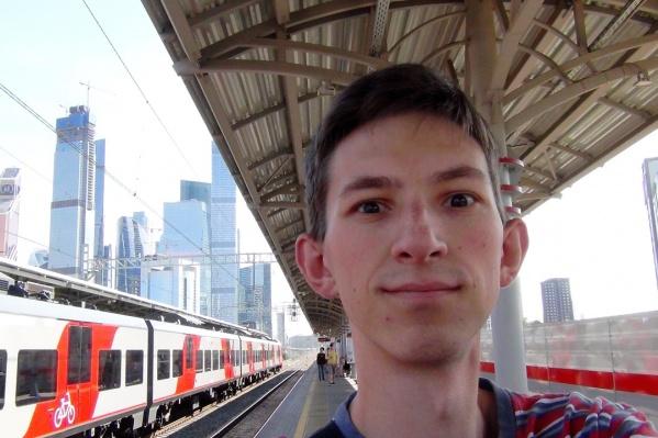 Виктор во время путешествия несколько лет назад