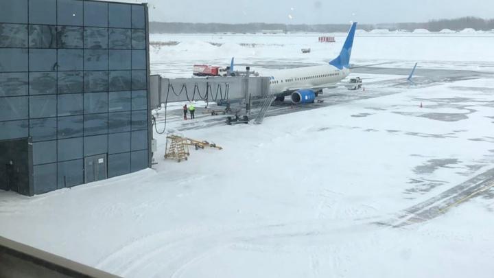В аэропорту Перми приостанавливают работу телетрапов