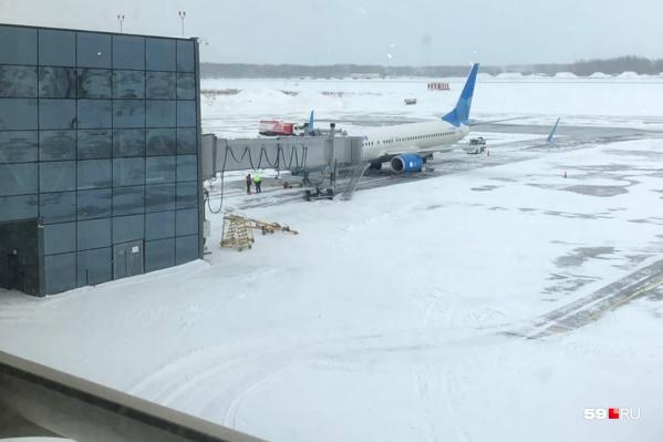 Сейчас в пермском аэропорту пять телетрапов