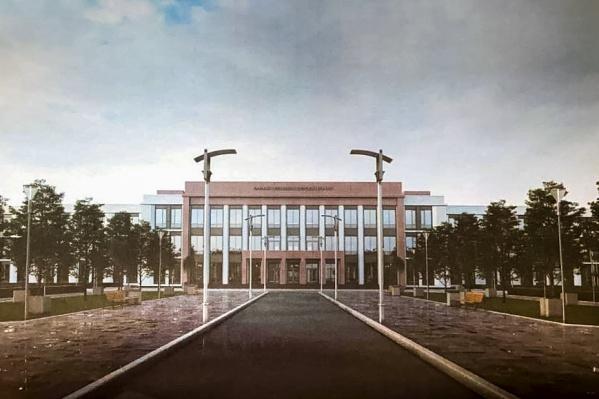 Учебно-административный корпус на 560 мест обращен в сторону «Птичьей гавани»
