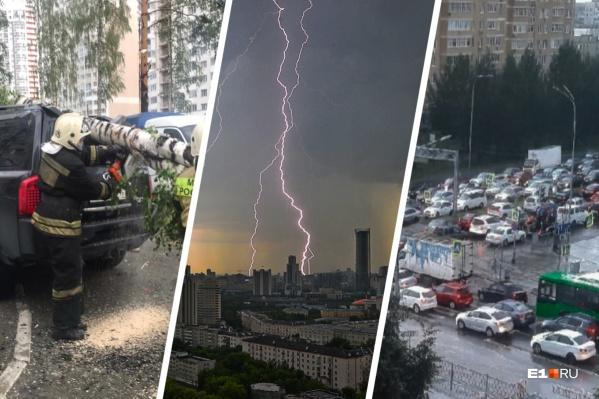 Рассказываем о последствиях непогоды в столице Урала
