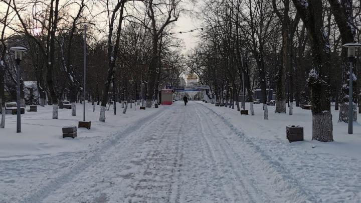 Гидрометцентр: 18-сантиметровые сугробы намело в Ростове за выходные
