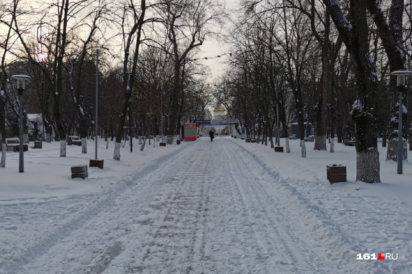 Снег в Ростове шел с пятницы