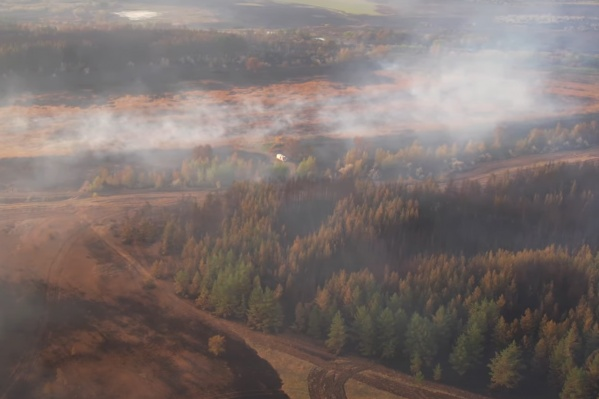 В Борском районе огонь прошел по территории в 5000 га