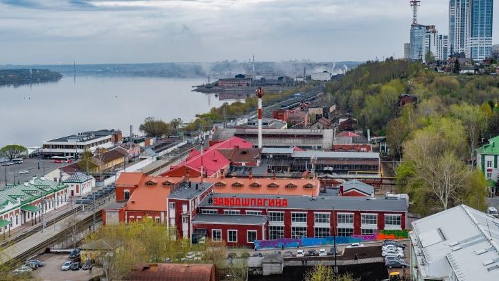 Реликтовый сад, зеленая поляна и дворики с кинотеатрами. Как изменится территория пермского Завода Шпагина?