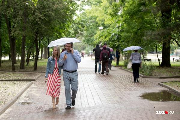Выходя на прогулку, не забывайте зонтик