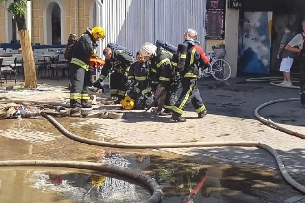 Пожарные прибыли быстро